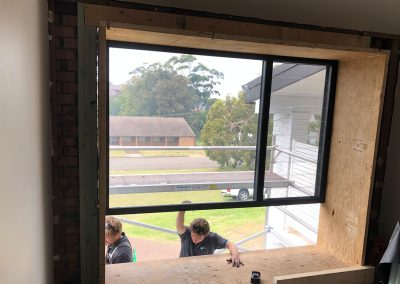 The removal of an existing window